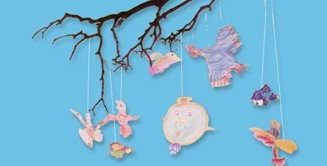Birds-in-the-Tree Mobile craft