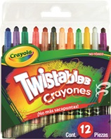 12 Mini Crayones Twistables