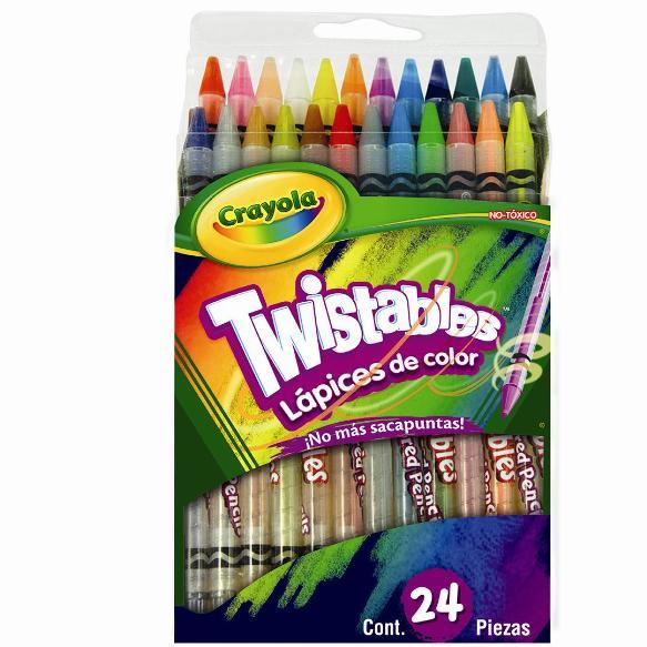 24 Lápices de color Twistables | crayola.com.mx